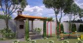 Churrasqueira e playground do Residencial Collina Belvedere